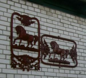 Muurdecoratie Paarden